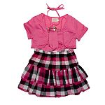 Adorable Plaid skirt set