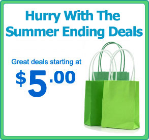 Hurry With The Summer Ending Deals! Great Deals Starting at $5.00